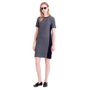 J. Crew Dresses - J. Crew mixed Houndstooth shift wool dress Sz 4